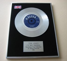 TOM JONES - IT'S NOT UNUSUAL PLATINUM single presentation Disc